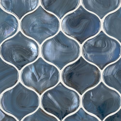 Blue Shimmer Arabesque Mosaic (SMOT-GLS-BLUSHI8MM)