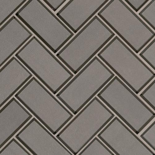 Champagne Beveled Herringbone Mosaic (SMOT-GLS-CHBEHB8MM)