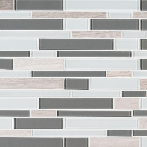 Gray Cliff Interlocking Mosaic (SMOT-SGLSIL-GRACLI4MM)
