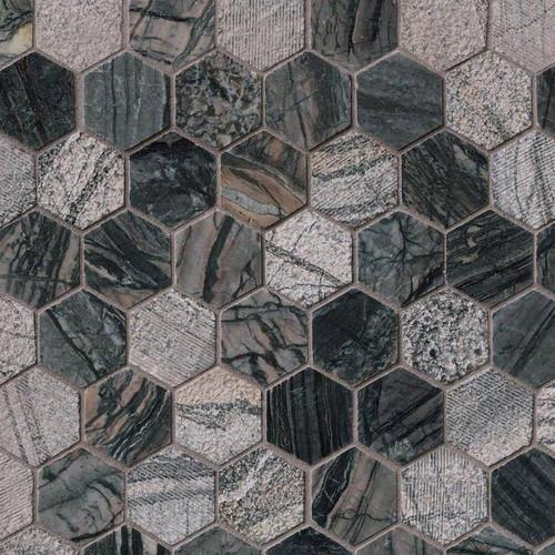 """Henley 2"""" Hexagon Mosaic (SMOT-HENLEY-2HEX)"""