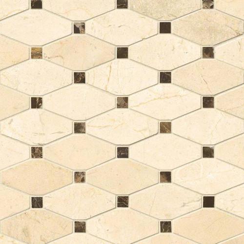 Valencia Blend Polished Elongated Mosaic (SMOT-VALBLND-OCTEL10MM)