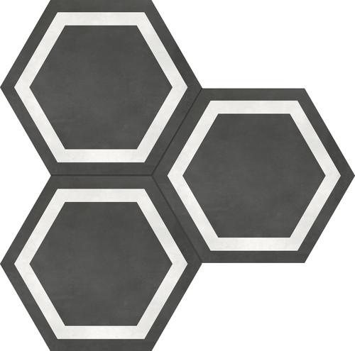 Form Graphite Hexagon Frame 7x8 (60-408)
