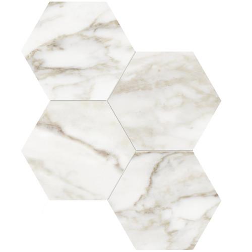 """La Marca Calacatta Paonazzo Polished 6"""" Hexagon Mosaic (4501-0324-0)"""