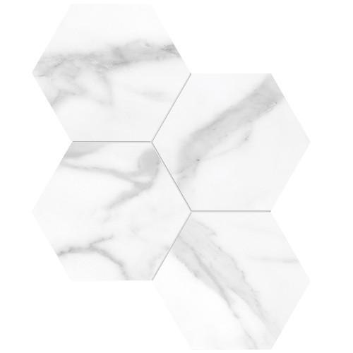 "La Marca Statuario Nuovo Polished 6"" Hexagon Mosaic (4501-0329-0)"