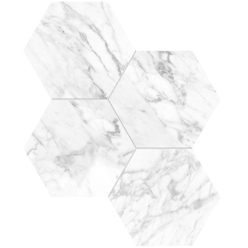 "La Marca Statuarietto Honed 6"" Hexagon Mosaic (4501-0332-0)"
