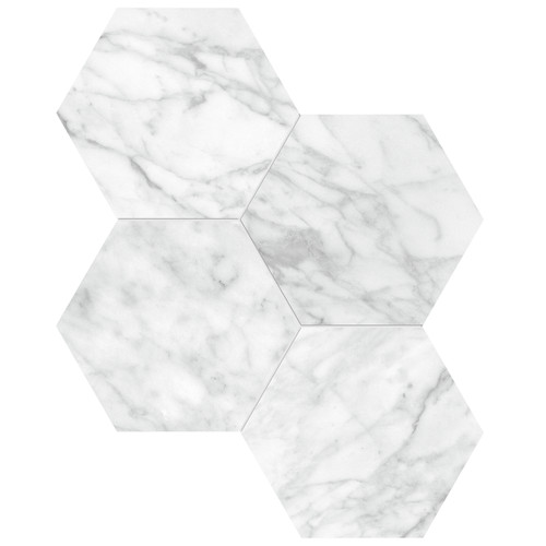 "La Marca Carrara Gioia Honed 6"" Hexagon Mosaic (4501-0334-0)"