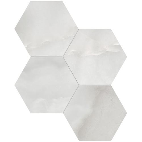 "La Marca Onyx Nuvolato Honed 6"" Hexagon Mosaic (4501-0336-0)"