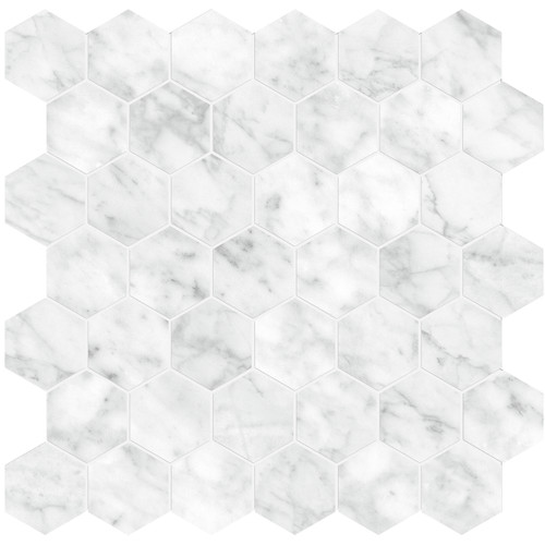 "La Marca Carrara Gioia Polished 2"" Hexagon Mosaic (4501-0343-0)"