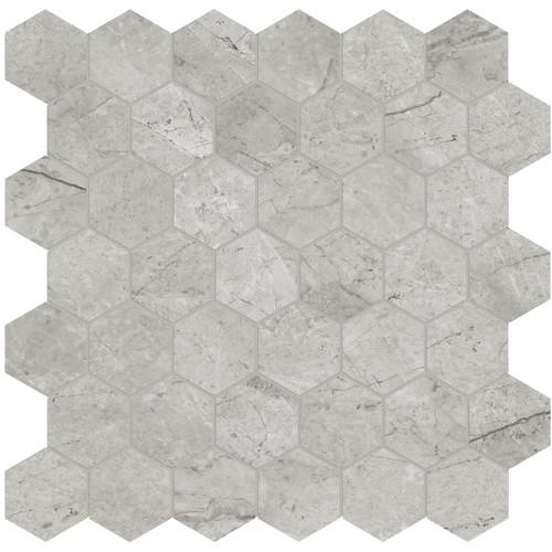 "La Marca Paradiso Argento Polished 2"" Hexagon Mosaic (4501-0344-0)"