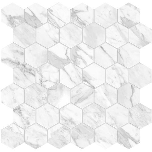 "La Marca Statuarietto Honed 2"" Hexagon Mosaic (4501-0350-0)"