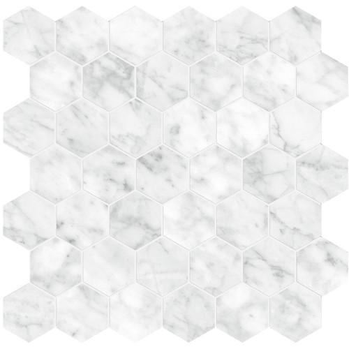 "La Marca Carrara Gioia Honed 2"" Hexagon Mosaic (4501-0352-0)"