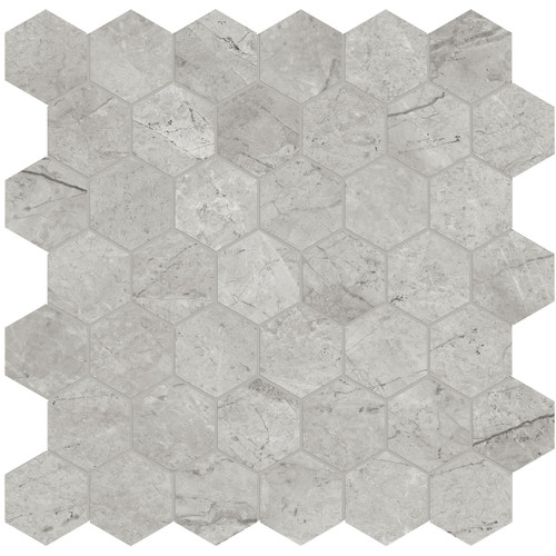 """La Marca Paradiso Argento Honed 2"""" Hexagon Mosaic (4501-0353-0)"""