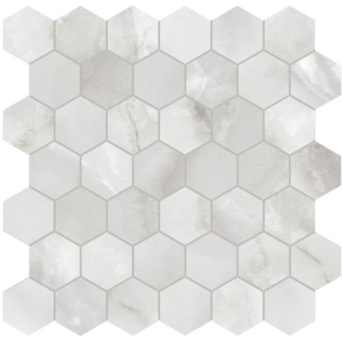 "La Marca Onyx Nuvolato Honed 2"" Hexagon Mosaic (4501-0354-0)"