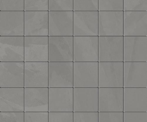 Brazilian Slate Silk Grey Porcelain Mosaic 2x2 (8482)