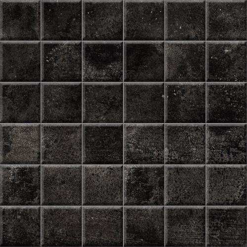Brooklyn Cemento Black Honed Mosaic 2x2 (IRG12MO183)