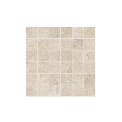 Rooted Ivory Matte Mosaic 2x2 (TMWIVMOS22)