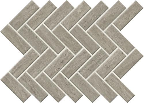 Sunset Falls Gray Ceramic Herringbone Mosaic (SF1713HERMS1P2)