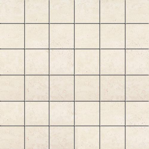 Theoretical Whimsical White Ceramic Mosaic 2x2 (TH9022MS1P2)