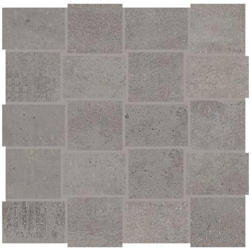 Union Industrial Gray Porcelain Basketweave Mosaic (UN0323MDWVMS1P2)