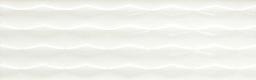 Visual Impressions White Linear Diamond Wall Tile 8x24 (VI10824DIA1P2)