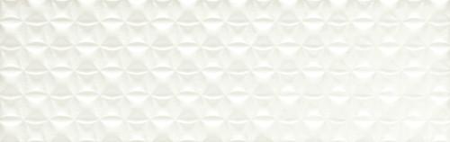 Visual Impressions White Quadrangle Wall Tile 8x24 (VI10824QDR1P2)