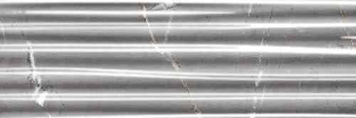 Marble Plus Fumo di Londra Grey Glossy Rows Wall 12x36 (188209)