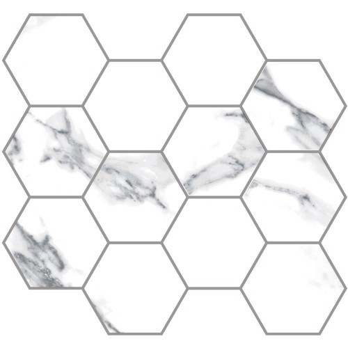 Statuario Extra Moderne Matte 3.25 Hex Mosaic (21.M.330.5339)