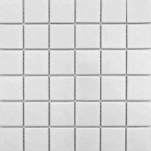 Retro Mosaics White Matte Mosaic 2x2 (WB40700)