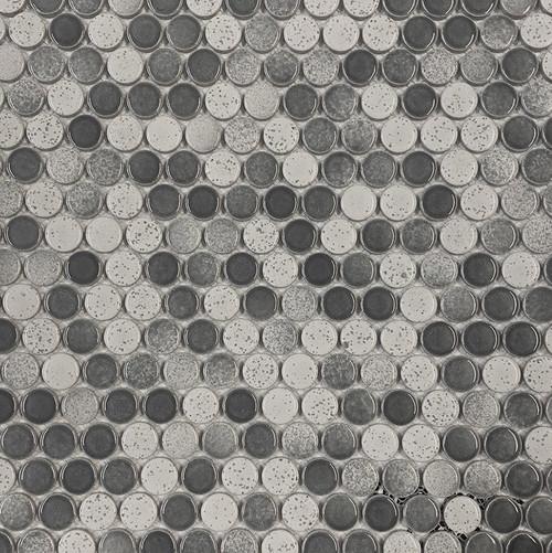 """Retro Mosaics Stone Glossy 3/4"""" Penny Round (PO303MIXG)"""