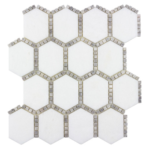 The Finish Line Manor Gray Jeweled Hex Mosaic (ANTHFLJG)