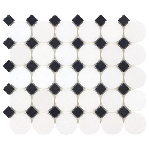The Finish Line Sable Black Buttons Mosaic (ANTHFLSB)