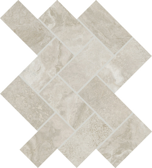 Archaia Province Grey Ceramic Herringbone Mosaic (AR4224HERRMS1P2)