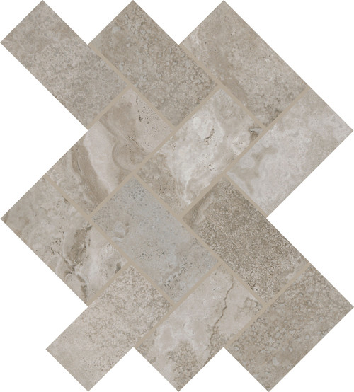 Archaia Atlas Grey Ceramic Herringbone Mosaic (AR4324HERRMS1P2)