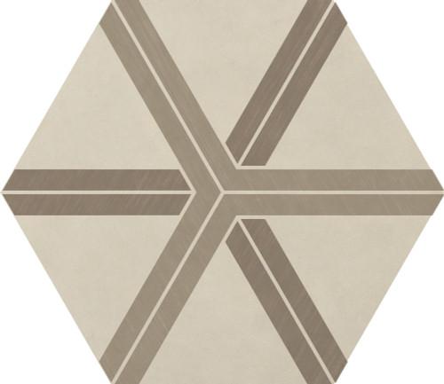 Bee Hive Warm Blend Plot Porcelain Hexagon 24x20 (P0132420HXDCO1P)
