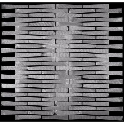 Metal Elements Grey Brick Mounting Mosaic (AMBK-06)