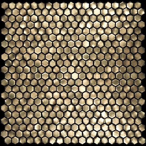 "Metal Elements Gold 0.5"" Hexagon Mosaic (AMHEX-02)"