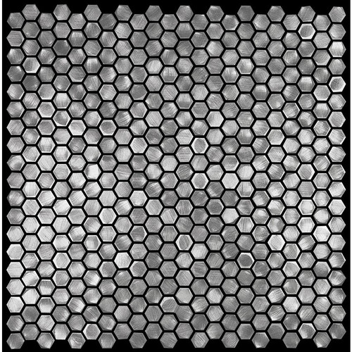 "Metal Elements Grey 0.5"" Hexagon Mosaic (AMHEX-06"