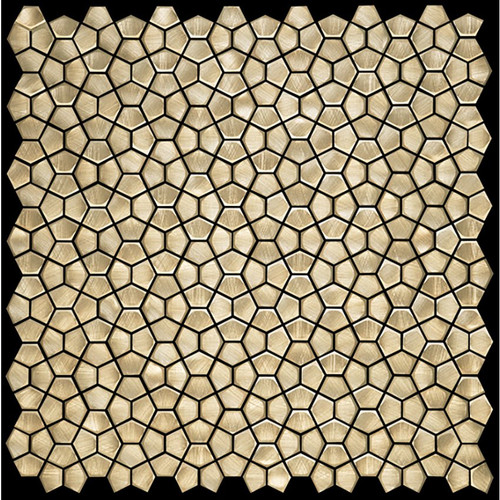 Metal Elements Gold Pentagon Mosaic (AMPFL-02)