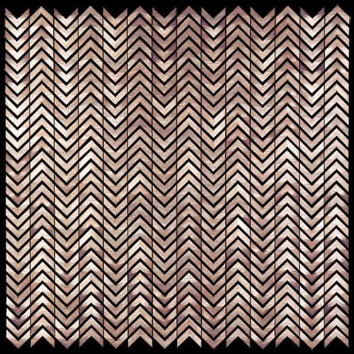 Metal Elements Salmon Rose Mini Chevron Mosaic (AMV-00)