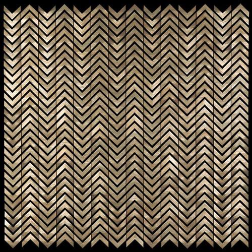 Metal Elements Gold Mini Chevron Mosaic (AMV-02)