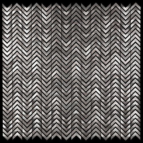 Metal Elements Grey Mini Chevron Mosaic (AMV-06)