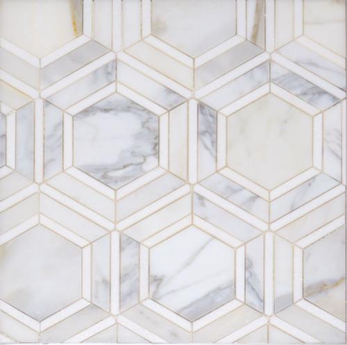 Manhattan Calacatta & Thassos Polished Ovation Mosaic (MB123)