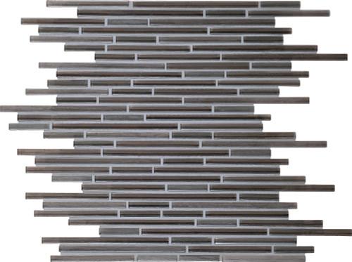 Caprice Kinetic Khaki Glass Linear Mosaic (F166516MS1P)