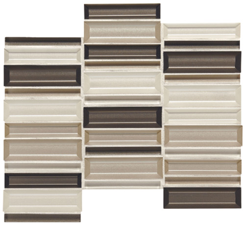 Cascading Waters Earth Tide Glass Random Straight Stacked Mosaic (CW4414MS1P)