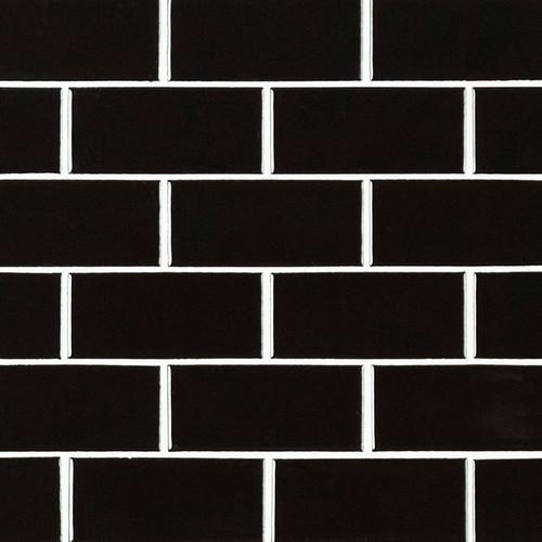 Domino Black Glossy 2x4 Mosaic (SMOT-PT-RETNERO-2X4G)