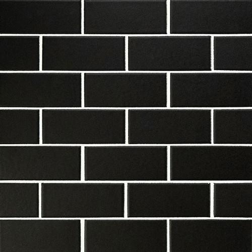 Domino Black Matte 2x4 Mosaic (SMOT-PT-RETNERO-2X4M)