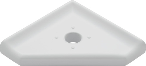 "Geo Retrofit Gray Polished Corner Soap Dish 5"" (SBA18421)"
