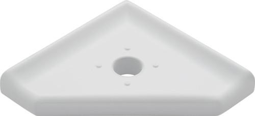 "Geo Lugged Gray Polished Corner Soap Dish 5"" (SBA19421)"