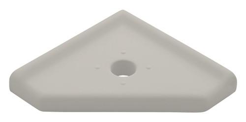 "Geo Lugged Gray Matte Corner Soap Dish 5"" (SBA19412)"
