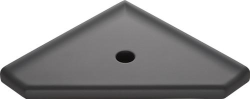 "Geo Lugged Graphite Matte Corner Shelf 8"" (MBA193086)"